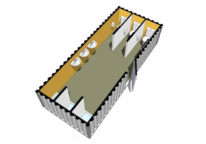 Containers bateria de ba o m dulo con revestimiento - Modulos de bano ...
